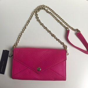 NWT Rebecca Minkoff Neon pink WOC gold chains